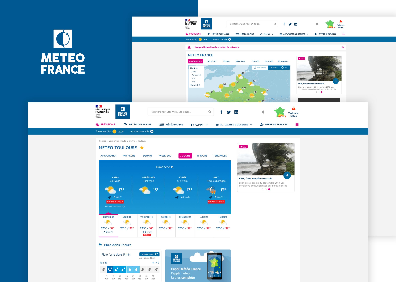 UI/UX Design Météo France