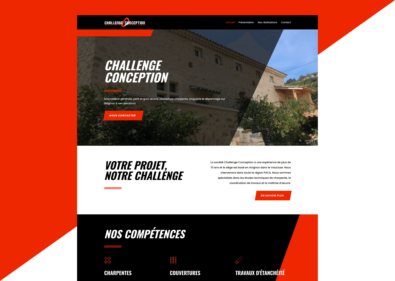 Site internet Challenge Conception